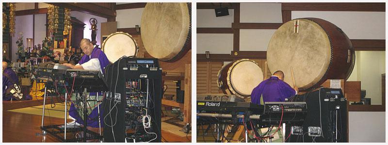 魂の鼓動を呼び覚ます「シンセサイザー&和太鼓」の演奏