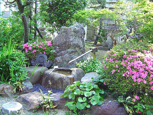 庭園の「つくばい」